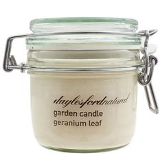 Daylesford Natural Small Kilner Jar Geranium Leaf Candle