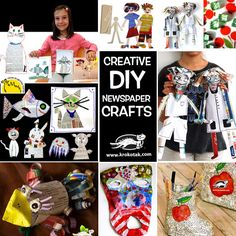 CREATIVE DIY NEWSPAPER CRAFTS
