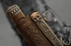Awesome seax knife details! http://paganroots.tumblr.com/post/64123559275/broadseax-by-jake-powning-swords