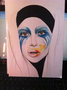 lady gaga art store | Lady Gaga Applause Album Art Drawing by KitaHorrocks-art on deviantART