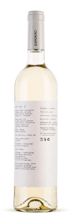 Esporão wine range label Test designed by White Studio. #taninotanino #vinosmaximum