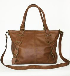 Tan Leather Handbag Tote Crossbody Bag Nora fits a by chicleather
