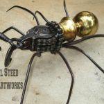 BizScape Steampunk Metal Spider Donnie Steel Steed Iron Artworks - Copy