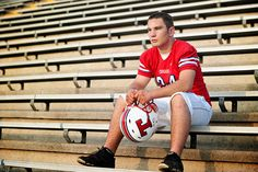 football senior picture
