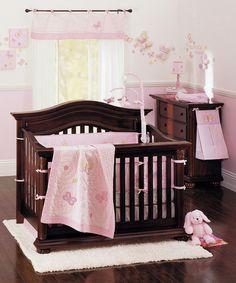 Pink & White Olivia 16-Piece Nursery Set by Crown Crafts on #zulily
