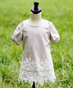 Rose & White Floral-Lace Dress - Toddler & Girls by Sweet Cottontail #zulily #zulilyfinds