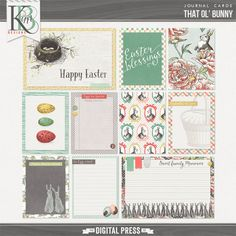 That Ol' Bunny : Journal Cards