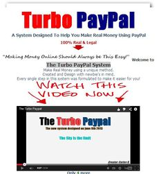 The Turbo PayPal System  Share and get 10% discount: