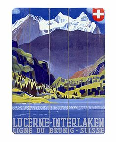 ArteHouse Wall Art, Swiss Alps Lucerne Wooden Sign - Wall Art - For The Home - Macy's Mandy for real