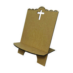Porta Bíblia MOD:1 Corte a Laser em MDF Cia Laser - 1671 - CasaDaArte