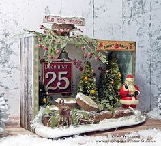 Santa's Winter Wonderland created for the Tim Holtz Holiday Inspiration Series 2017