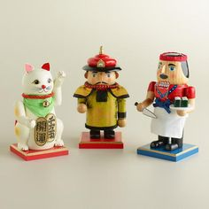 One of my favorite discoveries at WorldMarket.com: Asian Culture Chubby Nutcrackers, Set of 3