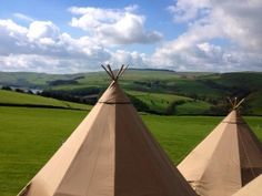 Peaktipis - the view from up here is amazing. Rolling Cheshire hills at a Summer Tipi Wedding in 2014  #tipis #teepees #tipiwedding #teepeewedding #midlands #tipihire #derbyshire #marquee #peaktipis #outdoorwedding