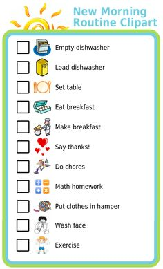 I've had a number of requests in the new year for additions to the Morning Routine Checklist, so I did a quick update this weekend to add the images below. If you use any of the activities on The Trip Clip website and don't find something you're looking for let me know! I am constantly updating the images available for each activity and am happy to get feedback about how to make each collection more complete.