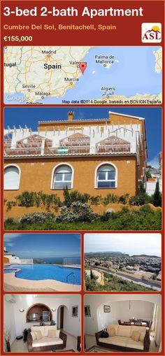 3-bed 2-bath Apartment in Cumbre Del Sol, Benitachell, Spain ►€155,000 #PropertyForSaleInSpain