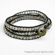 DIY crystal wrap bracelet from Happy Hour Projects