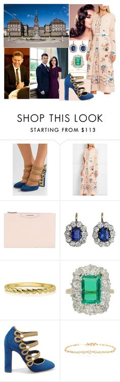 """""""Attending a farewell luncheon at Christiansborg Palace hosted by the Crown Prince Couple"""" by pompcircumstance ❤ liked on Polyvore featuring Dolce&Gabbana, Vilshenko, Givenchy, BERRICLE and Chaumet"""