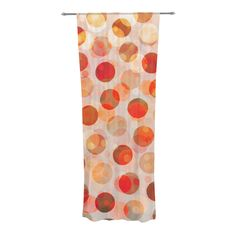 "Daisy Beatrice ""Shepard's Delight"" Orange Decorative Sheer Curtains from KESS InHouse"