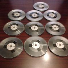 """Reel To Reel tapes 7"""" PHILIPS LP18 1800' Lot Of 10"""