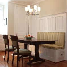 Eat In Kitchen Design | Built In Bench With Kitchen Table.