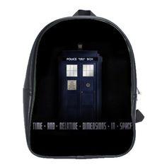 TheCityDesignGroup - Tardis Doctor Who Black Backpack School Book Bag (Large), $59.99 (http://thecitydesigngroup.com/products/tardis-doctor-who-black-backpack-school-book-bag-large.html)