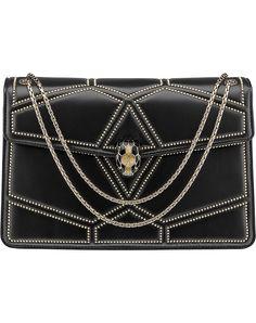 BVLGARI - Serpenti Forever studded leather shoulder bag | Selfridges.com