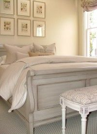 Sleigh Bed hand painted- Washington DC