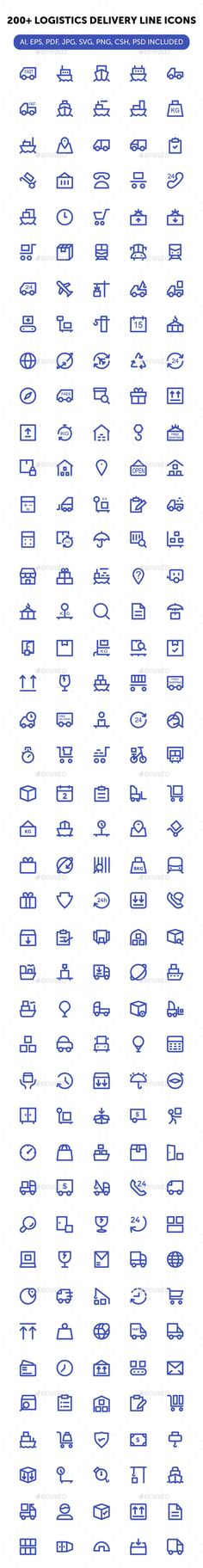 200+ Logistics Delivery Line Icons. Download here: http://graphicriver.net/item/200-logistics-delivery-line-icons/16565816?ref=ksioks