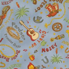 Fabric 1 yd  51226-13 MODA The Udder Cowboy Sew Treasured     FREE SHIPPING by SewCountryStitches on Etsy