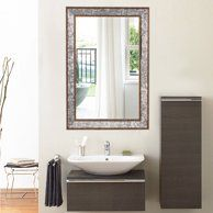 Crackled Silver Wall Mirror Walmart Com Mirror Wall Mirror Wall Bathroom Mirror Wall Bedroom
