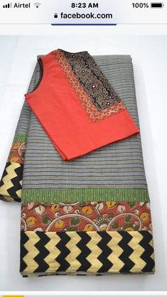 Saree Blouse Designs, Blouse Patterns, Hand Embroidery, Embroidery Designs, Picnic Blanket, Outdoor Blanket, Saree Trends, Designer Sarees, Cotton Saree
