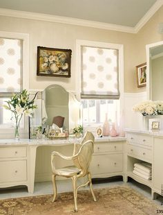 One day I will have a vanity in my home! I hate standing up while putting on make up.