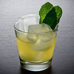 Off to the Races - 2 Shiso leaves 2 oz Buffalo Trace Bourbon 1 oz Peach-Apricot-Chipotle Chile Agave Nectar* Just under 1 oz Fresh lemon juice 2 dashes Peach bitters (such as Fee Brothers)