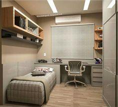 Home Office Bedroom, Bedroom Setup, Room Design Bedroom, Room Ideas Bedroom, Home Room Design, Room Interior Design, Small Room Bedroom, Home Office Design, Living Room Designs