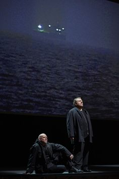 Alan Held as Kurwenal and Ben Heppner as Tristan in the Canadian Opera Company's production of Tristan und Isolde, 2013.     Photo Credit: Michael Cooper