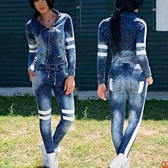 FOGGI women's jeans + denim jacket trousers skinny jeans hipsters 34 - 38 # Source b Jeans Denim, Jacket Jeans, Skinny Jeans, Pants, Dame, Overalls, Hipsters, Trousers Women, Tops