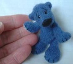 Barbara Allen needle felted teddy bear