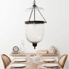 Suspension en verre et métal effet rouille L 38 cm | Maisons du Monde