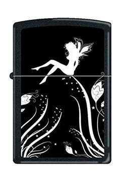 Zippo 0243 Midnight Fairy Magic Black Matte Rare  Discontinued Lighter *** Details can be found by clicking on the image.Note:It is affiliate link to Amazon.