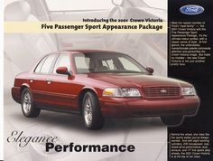 2001 Ford Crown Victoria Sedan with Sport Appearance Package Panther Car, Chevrolet Vega, Mercury Marauder, Victoria Police, Ford Ltd, Mercury Cars, Burberry Purse, Ford News, Car Advertising