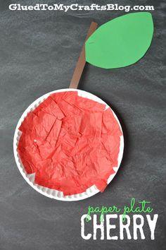 Paper Plate Cherry - Kid Craft