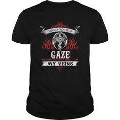 I Love  GAZE Blood Runs Through My Veins (Dragon) - Last Name, Sub Name Shirts & Tees