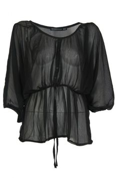 Check out this beautiful black chiffon top! The top is made of sexy see-through chiffon with a beautiful loose fit. The top is oversized with a little shape in the waist. Try to wear with a tanktop underneath it or maybe a long sleeve for the more cold days. Time to class up your wardrobe!  www.2dayslook.com