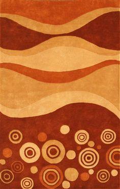 Eleen Area Rug In Multicolor Rust - 8 ft. x 5 ft.