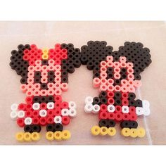 Mickey and Minnie Mouse perler beads by jvely_es2