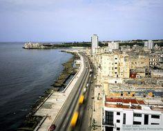 A section of El Malecón in Havana