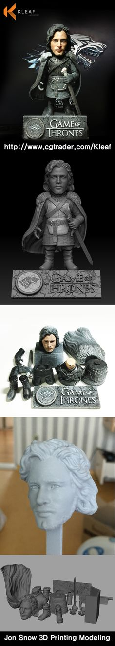 Game of Thrones - Jon Snow 3D Printing Modeling