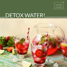 Detox Water helps you maintain  a flat belly. #Detox#Destress#Deflate #AAYNA