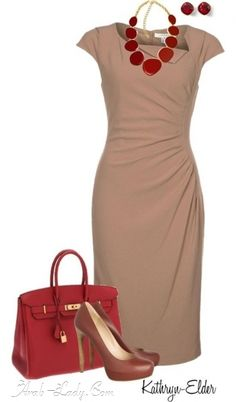 Love this dress Ditch the purse change color of pumps to nude and possible use different jewelry.