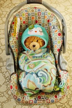 Attempting Agape: Homemade Carseat Blanket - Keeping Baby Warm & Safe